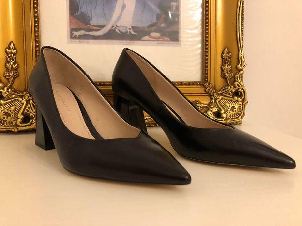 Sapatos pretos zara novos 36