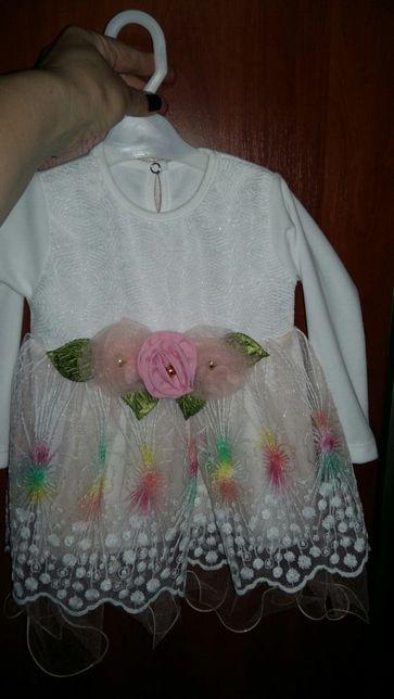 Платье на девочку 6-9 мес
