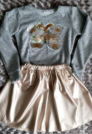 Юбка, кофта, кофточка, костюм на девочку, 134-140