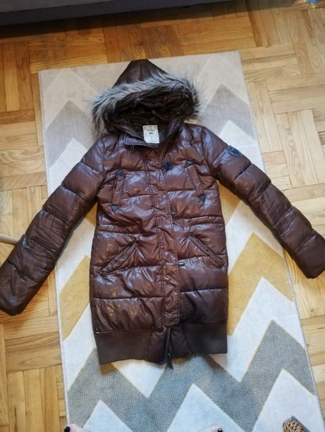 Brązowa kurtka Pull&Bear rozmiar S