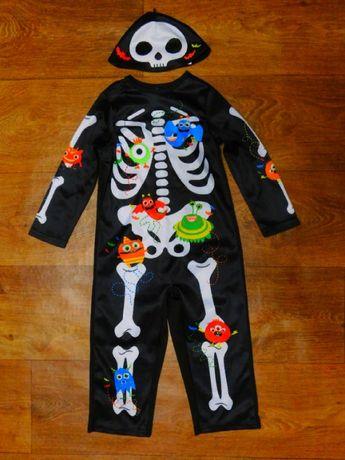 костюм скелет 18-24 мес 92 рост Halloween Хэллоуин мальчику карнавальн