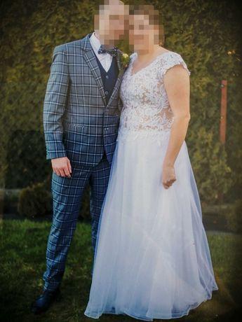 Suknia ślubna rozmiar 46-48 na wysoką Panią