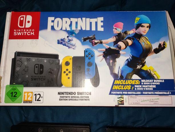 Nintendo switch fortnite edition - 18 meses garantia