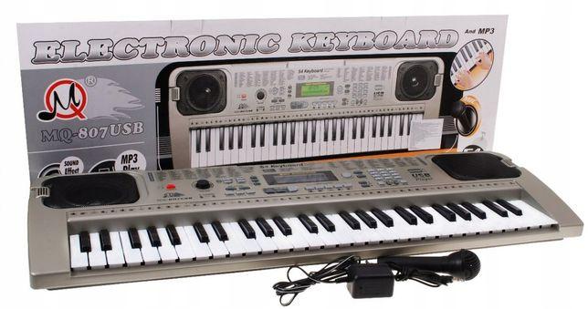 Keyboard Organy Dla Dzieci Mikrofon Zasilacz Usb