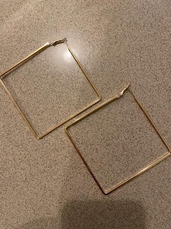 Brincos (argolas quadradas)