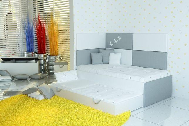 Super łóżko piętrowe-niskie dla dzieci+panele tapicerowane.Włocławek