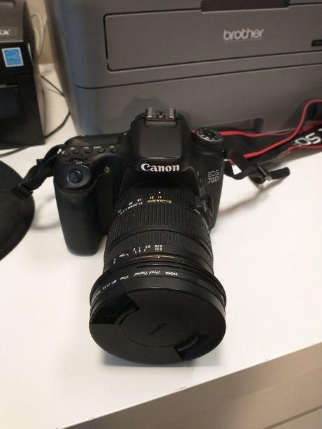 Lustrzanka Canon EOS 70D + obiektyw Sigma 17-50mm f/2.8