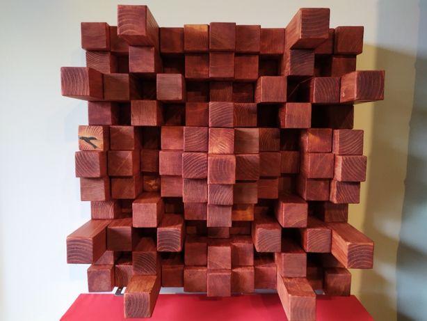 Dyfuzor panel akustyczny drewniany. Studio, salon.
