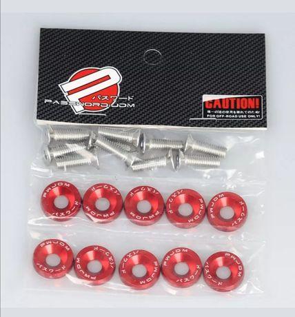 Conjuntos de 10 parafusos e anilhas M6 e fixadores de para choques