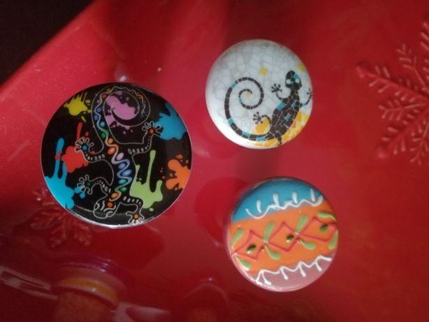rolhas para garrafas em cerâmica pintadas à mão