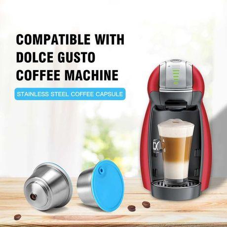 Многоразовые капсулы нержавека для кофе машин. Капсула Dolce gusto