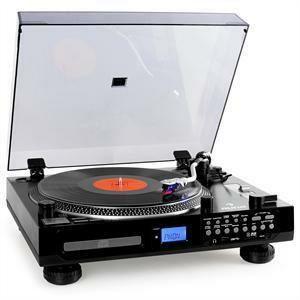 Gramofon AUNA TT-1200 cd mp3 usb sd radio tape aux