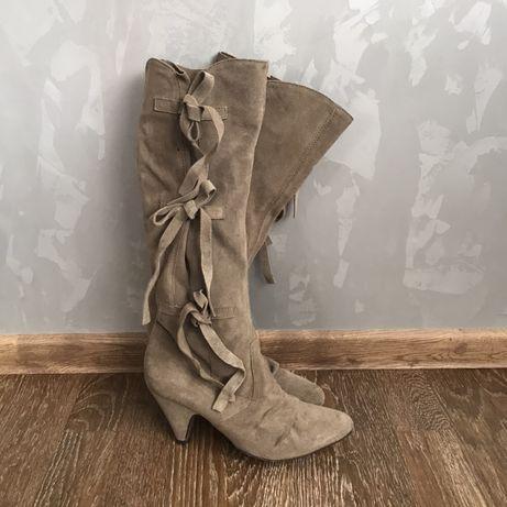 Замшеві чоботи замшевые сапоги