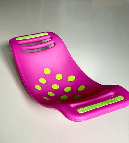 Fat Brain Toys - Bujawka Teeter Popper różowy, deska balansująca, 3+
