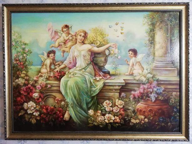 Картина масло на холсте, живопись Флора от Ханса Зацка