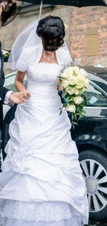 Suknia ślubna welon bolerko gratis TANIO