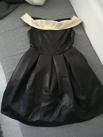 Sukienka weselna na wesele czarna Pretty Girl S