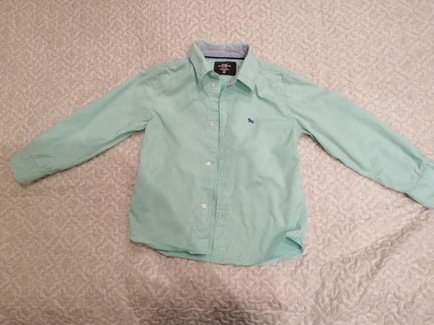 Рубашка мятная р. 122 h&m