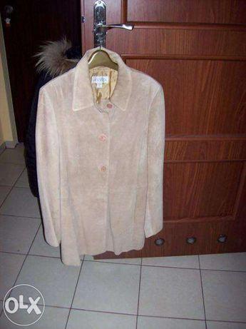 Ślicznay beżowy elegancki płaszczyk r. XL