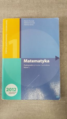 Podręcznik Matematyka do liceów i techników. Klasa 1