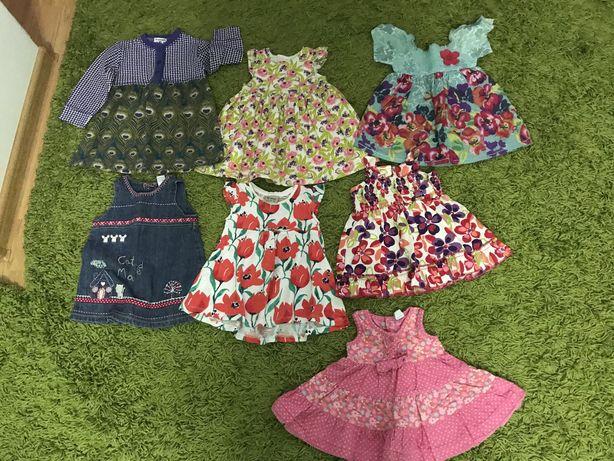 Красивые лёгкие платья на принцессу 3-6 мес. Для новорожденных.
