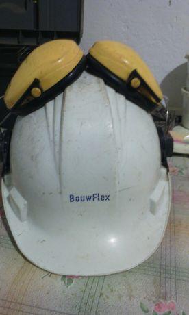 Sprzedam kask ochronny budowlany z słuchawkami ochronnymi