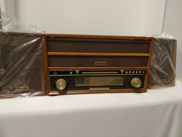 Belle Epoque 1910 Wieża stereo w stylu retro gramofon odtwarzacz CD ko