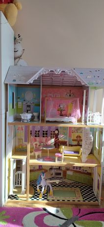 Dom domek KidKraft Bella Kaylee dla  lalki barbie, monster,drewniany
