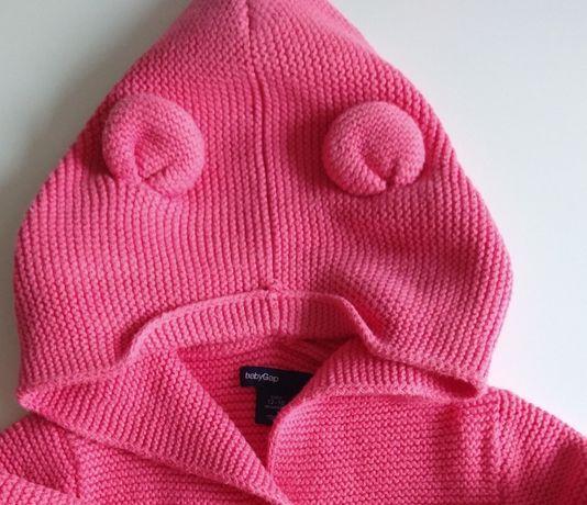 Sweterek z uszkami Misia Baby Gap 12-18 miesięcy