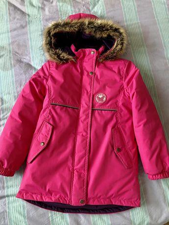 Зимова красива куртка, парка на дівчинку 9 р. Lenne, Ленне, 134 р.