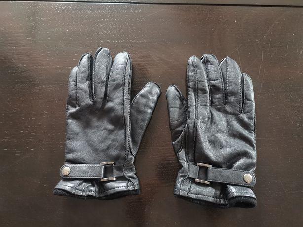 Rękawiczki skórzane OCHNIK czarne