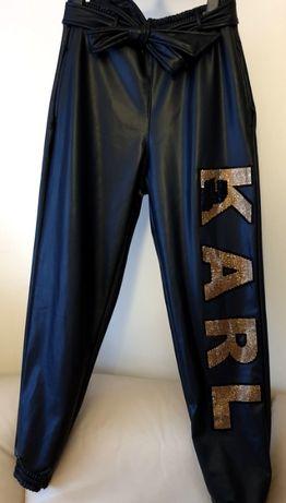 Karl Lagerfeld roz M spodnie lekko ocieplane nowe