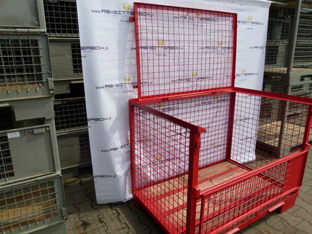 Gitterbox z klapą kosz druciany paleta metalowa giterbox uic ujc EPAL
