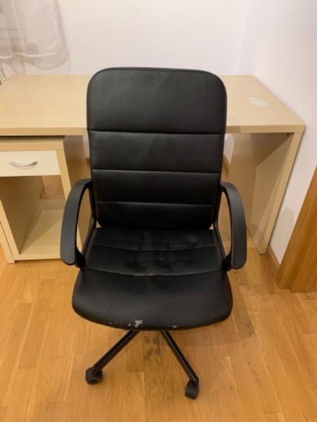 Krzesło biurowe obrotowe na kółkach ekoskóra IKEA
