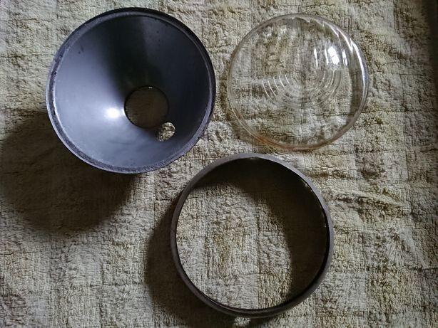WFM M06 WSK M06 Szkło lampy przedniej, ramka i odblask
