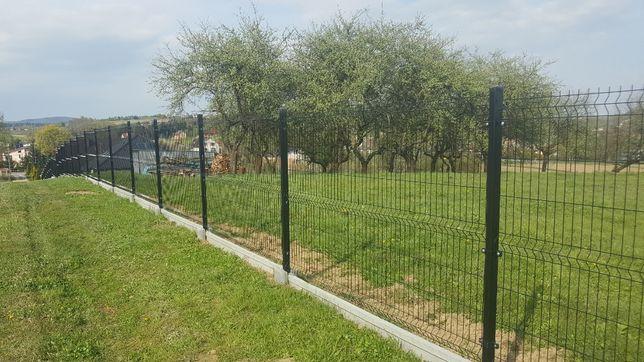 48 zł metr biezacy kompletne ogrodzenie panelowe h123 fi 4 + murek