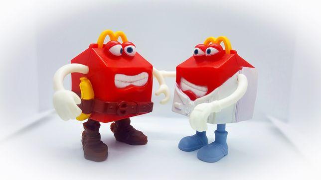Conjunto 2 Figuras brindes Happy Meal McDonald's 2012 Happy