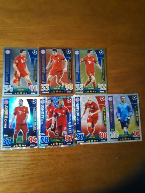 karty match attax 2015/2016 lewandowski limited edition