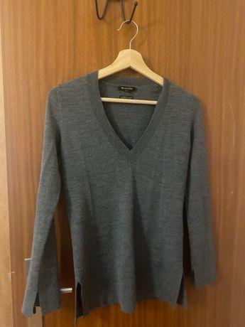 Camisola / Sweater decote em V massimo dutti 100% lã merino