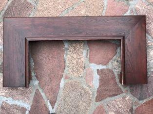 Półka drewniana - dębowa do kominka