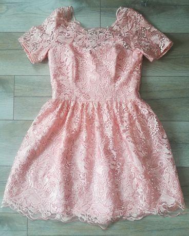Sukienka z koronki, elegancka sukienka, sukienka na wesele, chrzciny