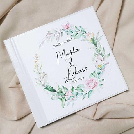 Piękna księga gości na wesele - PASTELE