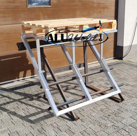 Wózek stół Aluminiowy regulowany Połaciowy dekarski Dekarz żuraw Dźwig