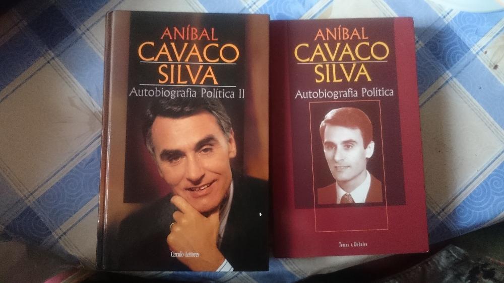 auto biografia cavaco silva volume 1 e 2 em excelente condiçao ambos