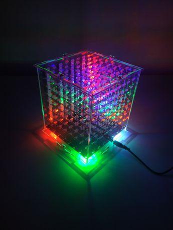 Светодиодний куб лампа, светильник. LED ночник. Подарок. РУЧНА РОБОТА.
