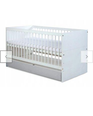 Łóżeczko tapczanik 2w1 białe firmy Klupś 140x70 materac
