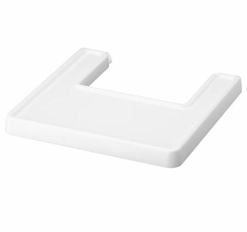 2 sztuki ANTILOP Tacka do krzesełka do karmienia, biały