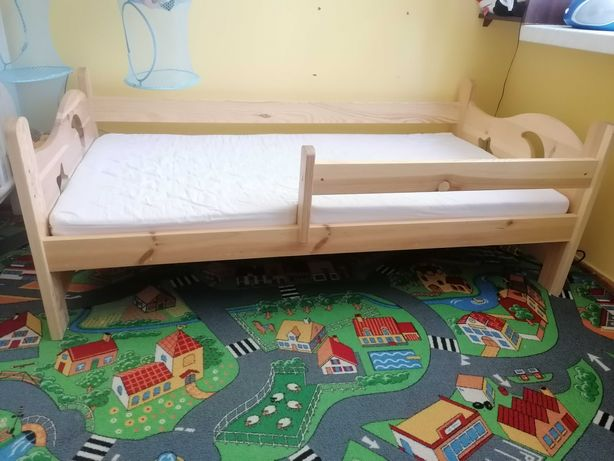 Łóżko dziecięce 80x160 porządne drewniane sosnowe + stelaż + materac