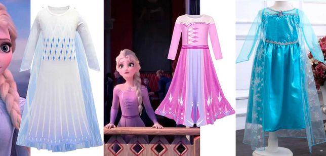 FROZEN - Fantasias Vestidos Princesa ELSA - 4, 5, 6, 7, 8, 9 anos NOVO