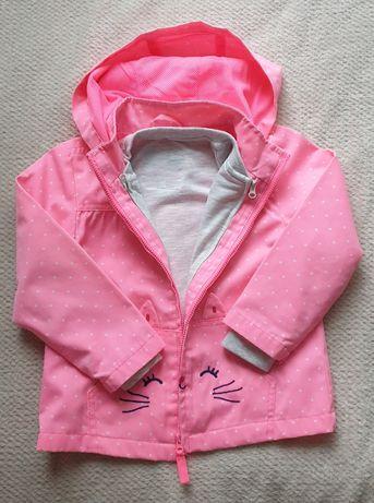 Kurtka płaszczyk przejściowy dziewczęcy, wiatrówka z bluzą